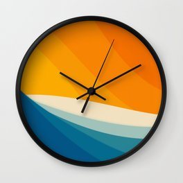 Abstract landscape art Wall Clock
