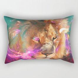 Lions Eating Galaxies Rectangular Pillow