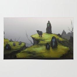 Ruins - green Rug