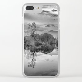 """""""Mammoth Paradise"""" Bw Clear iPhone Case"""