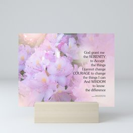Serenity Prayer Rhododendron Glow Mini Art Print