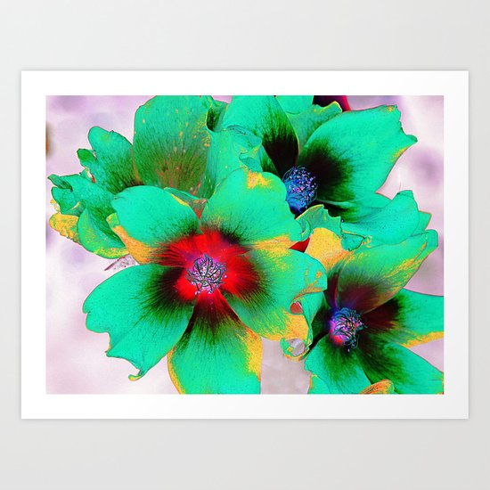 flowers in colors 98 Art Print