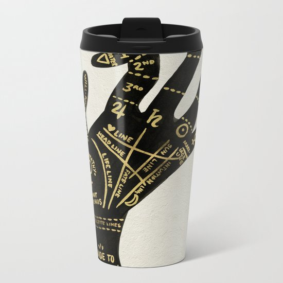 Palmistry Metal Travel Mug