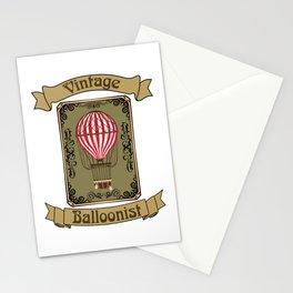 Vintage Balloonist Hot Air Balloon Pilot Ballooning Stationery Cards
