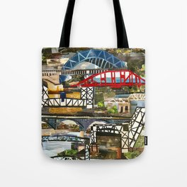 """""""Cleveland Bridges"""" in cut paper by Willowcatdesigns Tote Bag"""