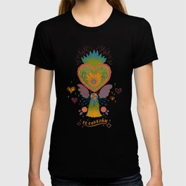 Mexican Heart Tassel (Corazon) - Purple T-shirt