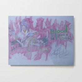 Blood On The Dancefloor. Metal Print