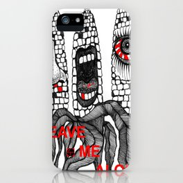 LEAVE ME ALONE / GO AWAY iPhone Case