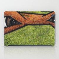 teenage mutant ninja turtles iPad Cases featuring Michaelangelo (Teenage Mutant Ninja Turtles) by chris panila