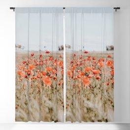 flower field Blackout Curtain