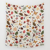 botanical Wall Tapestries featuring Botanical by Kakel