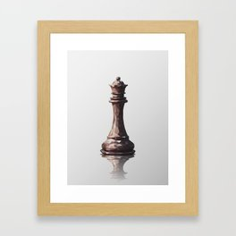 queen low poly Framed Art Print