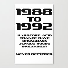 Never Bettered Canvas Print