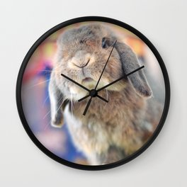 Bunny with circus tent Wall Clock