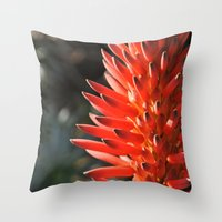 neon Throw Pillows featuring Neon by Mary Curtis