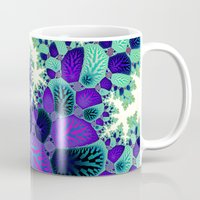 novelty Mugs featuring Leafy Nosegay Fractal by Moody Muse