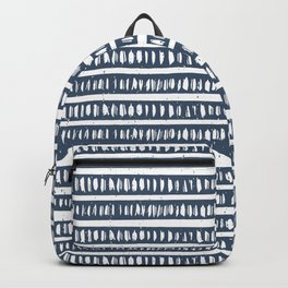 Mudcloth Lines | Classic Blue Backpack