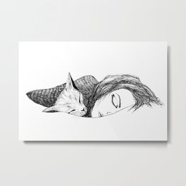 Time to sleep Metal Print