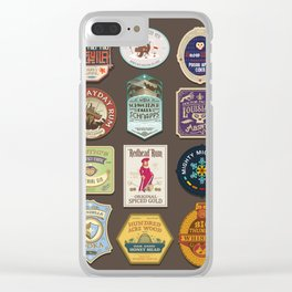 Liquor Stickers Clear iPhone Case