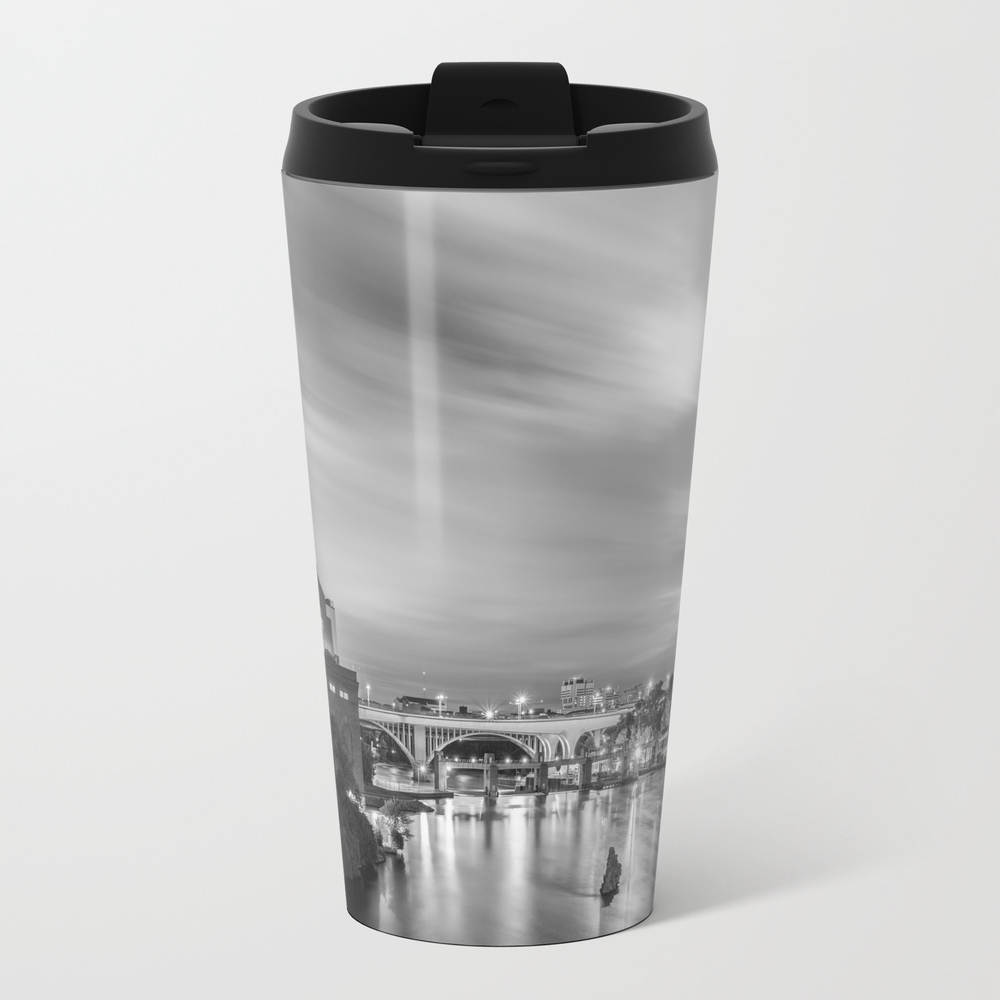 The Mississippi River Night Scene Travel Cup TRM8787519