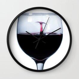 A Splash of Red Wine Wall Clock