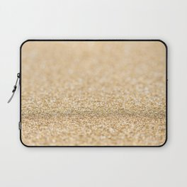 Beautiful champagne gold glitter sparkles Laptop Sleeve