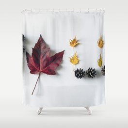 Fall in Words Shower Curtain