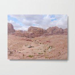 Looking Over Petra Jordan Metal Print