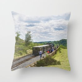 The Brecon Mountain Railway Throw Pillow