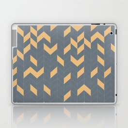 Grey and Mustard Herringbone Laptop & iPad Skin