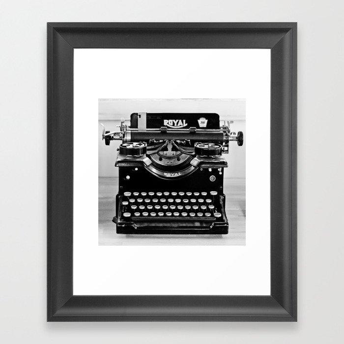 Vintage Typewriter Gerahmter Kunstdruck