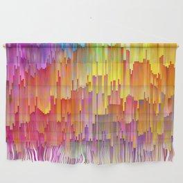 Vibrant Rainbow Cascade Design Wall Hanging
