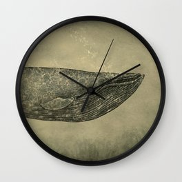 Damask Whale  Wall Clock