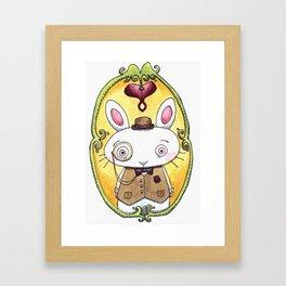 Bowler Bunny Framed Art Print