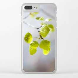 Baby Aspen Leaves Clear iPhone Case