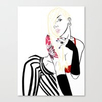 celebrity Canvas Prints featuring Celebrity by Nunyah Bidness