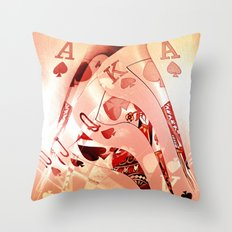 Royal Flush Mania Throw Pillow