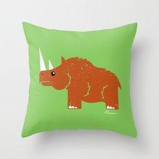Woolly Rhino Throw Pillow
