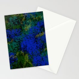 Peacock crystal mosaic Stationery Cards