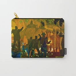 From Slavery thru Reconstruction photograph of the 135th St. WPA Public Mural NY Public Library  Carry-All Pouch