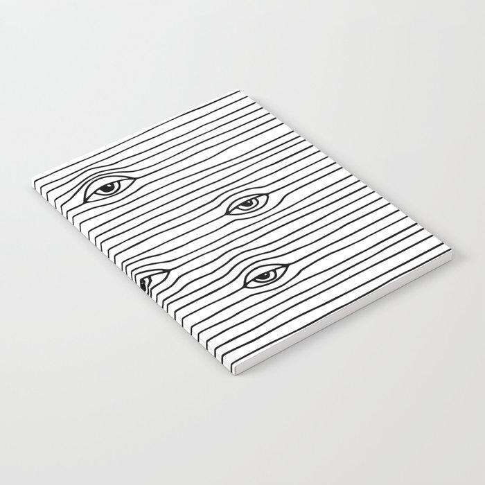 PEEPING TOM [BLK & WHT] Notebook