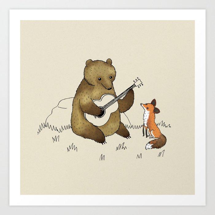 Bear & Fox Kunstdrucke