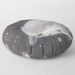 Blob floating in space Floor Pillow