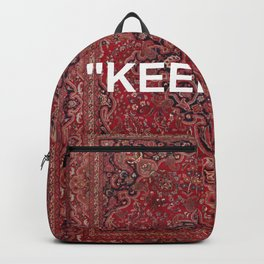 """""""keep off"""" antique persian rug Backpack"""