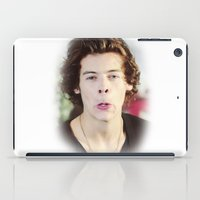 harry styles iPad Cases featuring Harry Styles (One Direction) by Diana T