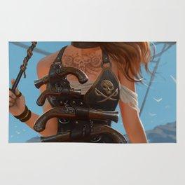 Franceska Drake the black powder pirate Rug
