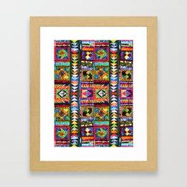 Korak Pattern Framed Art Print