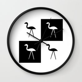 Hate in Black and White Wall Clock