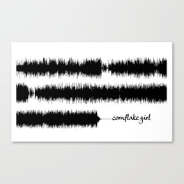 Cornflake Girl Soundwave Canvas Print
