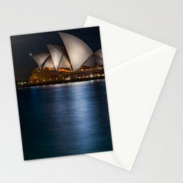 Supermoon at Sydney Opera House Stationery Cards